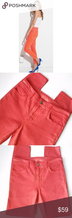 ➡Joe's Jeans High Water Jeans in Fiery Coral⬅ Hello spring! These gorgeous coated sleeves by jeans will give you the perfect pop of color in your wardrobe. New without tags. 42% Lyocell/33% Cotton/15% Rayon/9% Polyester/1% Spandex. Coated finish.  Ankle length. Joe's Jeans Jeans Skinny