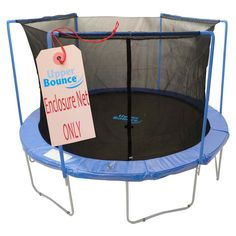 """Upper Bounce"" Trampoline Enclosure Net is a must to have to ensure your family's safety! Fits for a 6 FT. Trampoline Frame with 3 Arches. Actual  Net Height 65"". Net features a perfect height which g"
