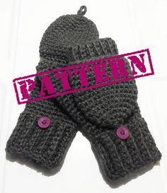 Ravelry: Glittens/ Convertible Mittens Pattern pattern by Claire Rodriguez $