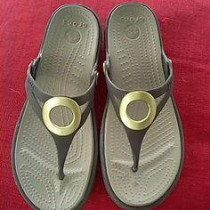 Women's Crocs sandles Super cute and comfy crocs! Like new! crocs Shoes Sandals