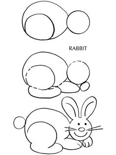 How To Draw A Cute Bunny Easter In 2019 Bunny Drawing Bunny