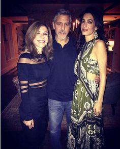 Amal Clooney wore her Valentino dress Amal Clooney, George Clooney, Star Fashion, Girl Fashion, Fashion Ideas, Amal Alamuddin Style, Leopard Print Coat, Valentino Dress, Club Style