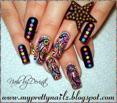 My Pretty Nailz: BPS Star Studded Nail Art Design and Video Tutorial    http://myprettynailz.blogspot.com/2014/06/bps-star-studded-nail-art-design-and.html