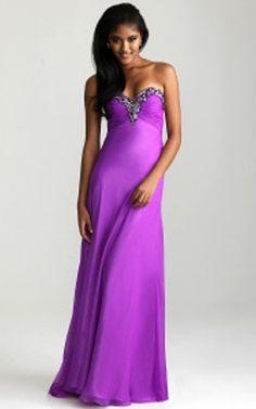 Purple Prom Dress | Night Moves 6694 Strapless Purple Prom Dress 2013 | StyleCaster