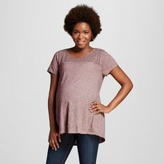 9f78410ad33de Maternity T-Shirts Rose Clay XXL - Liz Lange® for Target   Target