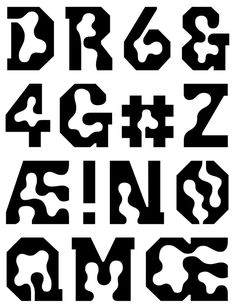Behind the Eyes, Inside the Skull: Karl Nawrot Discusses Mind Walks Typography Alphabet, Typography Fonts, Lettering, Typography Inspiration, Graphic Design Inspiration, Experimental Type, Logo Samples, Drawing Templates, Type Design