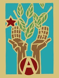GAIA - The Green Anarchist International Associaton - Eco-Anarchist International - Green Grass Confederation - Green Anarchist Network World Wide Bill Mollison, Anarchy Symbol, Network World, Communism, Punk, Green Grass, Gaia, Concept, Permaculture