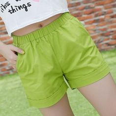 3d2a05a4b69 New 2017 summer candy color women shorts casual style ladies shorts hot  sale plus size cotton