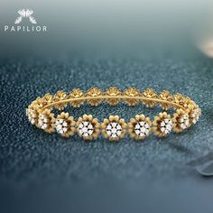 Diamond Bangle, Floral Design Diamond Bangles A look to Celebrate with Tiara Diamond Bracelets, Love Bracelets, Silver Bracelets, Bangle Bracelets, Diamond Rings, Bracelet Watch, Bridal Jewelry, Gold Jewelry, Crystal Jewelry