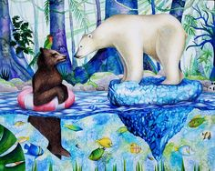 Bow Seat Announces Winners of International Student Art Contest Focused on Climate Change Vanitas Paintings, Change Symbol, Effects Of Global Warming, Bear Bows, Symbolic Representation, Save Our Oceans, Climate Change Effects, Human Art, Art Blog