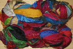94 yards Silk Sari Ribbon Yarn Recycled Fair by NorthcottWilson