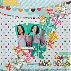 Ideas for Adding Pinwheels to Your Scrapbook Layouts | Kiki Kougioumtzi | Get It Scrapped