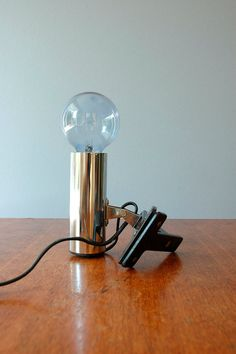 Vintage Targetti Mod Chrome Clamp Lamp by luola on Etsy, $49.00