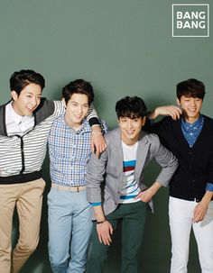 Kang So Ra and CNBLUE members Jung Yonghwa, Lee Jonghyun, Kang Minhyuk, and Lee Jung Shin are buffing up their mood for spring sheathed in BANGBANG's new colorful collection. Blue Lee, Cn Blue, Kang Min Hyuk, Lee Jong Hyun, Jung Yong Hwa, Lee Jung, Cnblue Members, Photo Background Images, Pop Rock Bands