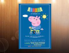 George Pig Birthday Invitation 5x7 Printable George pig Pig