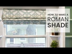 Online Fabric Store: How to Make a Roman Shade - YouTube This seems like the best video tutorial out there.