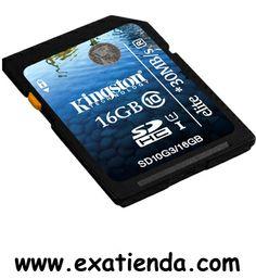 Ya disponible Memoria dg Kingston sd 16gb clase 10    (por sólo 22.89 € IVA incluído):   -Capacidad:16 GB -Clase:10 - Formato: SD - P/N:SD10G3/16GB Garantía de 24 meses.  http://www.exabyteinformatica.com/tienda/1187-memoria-dg-kingston-sd-16gb-clase-10 #tarjeta #exabyteinformatica