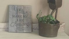 Rustic Anniversary Gift, You Make My Life Amazing, Reclaimed Wood Wall Art, Wooden Sign, Wood Sign, Primitive, Birthday Gift, Home Decor