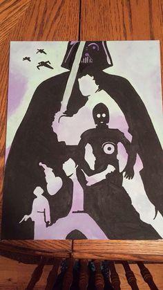 Darth Vader Star Wars canvas art silhouettes
