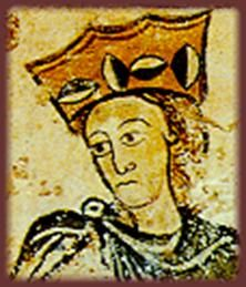 Eleanor of Aquitaine (1122 or 1124 – 1 April 1204) was one of the wealthiest and most powerful women in western Europe during the High Middle Ages and a member of the Ramnulfid dynasty of rulers in southwestern France. She became Duchess of Aquitaine in her own right while she was still a child, then later Queen consort of France (1137–1152) and of England (1154–1189). She was the patron of literary figures such as Wace, Benoît de Sainte-Maure, and Bernart de Ventadorn.