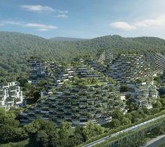 Cada construcción estará recubierta de vegetación, usará solo energías limpias y permitirá a 30 mil personas cohabitar con la naturaleza ¿te imaginás vivir en la Ciudad Bosque?