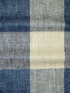 Check Please Lakeland: Linen hand loom look buffalo plaid fabric. Drapery Fabric, Fabric Decor, Linen Fabric, Linen Bedding, Fabric Sofa, Bed Linens, Blue And White Fabric, White Fabrics, Blue Fabric