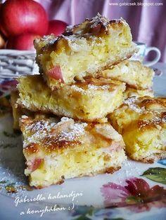 Lusta asszony rétese - bármilyen gyümölccsel Hungarian Desserts, Hungarian Cake, Hungarian Recipes, Hungarian Food, Light Desserts, Cake Cookies, Food Inspiration, Food To Make, Tart