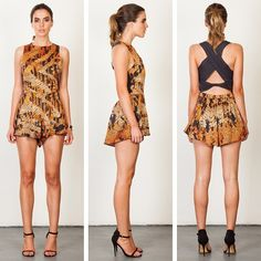 Three of Something 'Jaguar' playsuit available in store and online now at www.emclothing.com