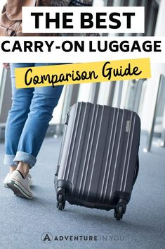 Best Carry-on Luggage   Looking for the best carry-on luggage? Here's our complete guide to choosing the ideal piece of luggage to bring right on the plane with you!