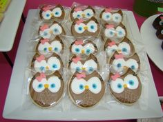 Cookies at an Owl Party #owl #partycookies