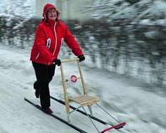 potkukelkka - kicksled - my parents used this to get to school. myself and my siblings used them everyday