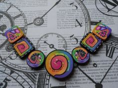 Polymer Clay Beads by TLS Clay Design by TLSClayDesign on Etsy, $12.99