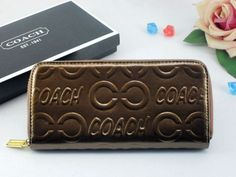 Coach Wallets 2615 All Brown Leather with Inlaid C Logo