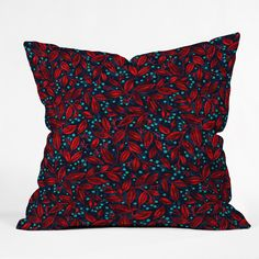 Wagner Campelo Berries And Leaves 1 Outdoor Throw Pillow | DENY Designs Home Accessories
