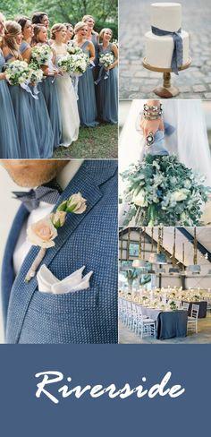 pantone fall wedding color inspiration riverside blue wedding color ideas