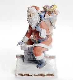 Lladro Christmas:  Down the Chimney Figurine $1,975.00