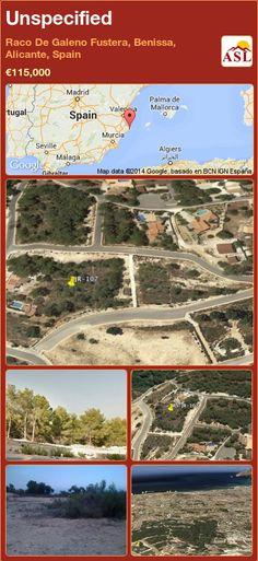 Unspecified in Raco De Galeno Fustera, Benissa, Alicante, Spain ►€115,000 #PropertyForSaleInSpain