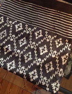 Tuch von Ichcha aus Indien. Leinenmischung, handbedruckt.