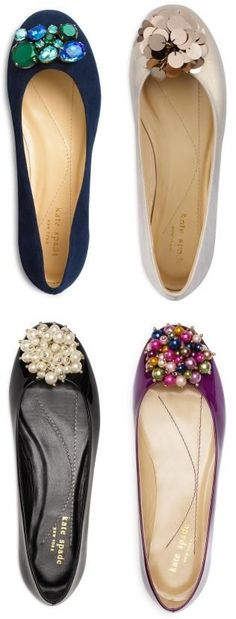 kate spade bejeweled flats ... So cute!