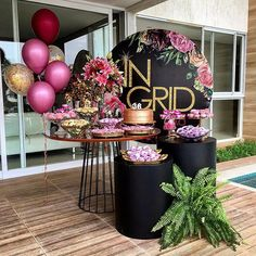 Birthday Table Design Party Themes 30 Ideas For 2019 Birthday Table, 50th Birthday Party, Birthday Party Decorations, Party Themes, Ideas Party, Deco Ballon, Ladies Party, Balloon Decorations, Event Decor
