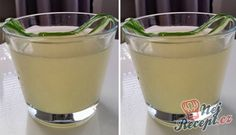 Okurková limonáda | NejRecept.cz Glass Of Milk, Food And Drink, Pudding, Drinks, Tableware, Desserts, Smoothie, Drinking, Smoothies