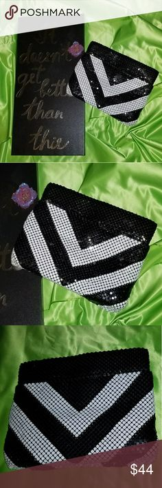 Vintage Mesh Metal Clutch From my personal collection a very cool bag with a lot of pockets. In excellent condition, no brand. Bags Clutches & Wristlets