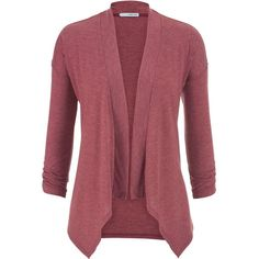 maurices Lightweight Cardigan In Heathered Fabric ($26) ❤ liked on Polyvore featuring tops, cardigans, deep cranberry, plus size 3/4 sleeve tops, 3/4 sleeve cardigan, plus size drape front cardigan, red cardigan y women plus size tops