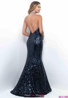 Blush Long Sequins Dress 11325