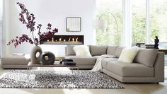Designer Chairs for Living Room With White Fur Cushions