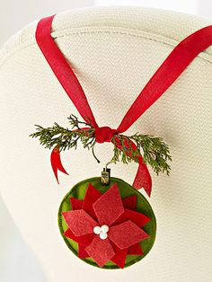 Felt Poinsettia Ornament from Better Homes and Gardens