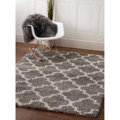 Shag Rug Gray & White High Quality Carpet Polypropylene  #floors #rugs #decor #carpet #trendy #decorating #floordecor #floorcoverings #myhomeisbetterthanyours #homedesign