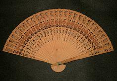 palmleaf hand fan - antique