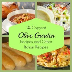 24 Copycat Olive Garden Recipes and Other Italian Recipes from AllFreeCopycatRecipes.com. Olive Garden!!!