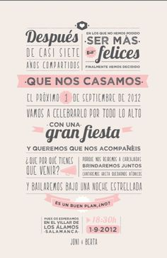 So cool - Frases para invitaciones de boda Wedding Tips, Wedding Cards, Wedding Events, Our Wedding, Weddings, Budget Wedding, Trendy Wedding, Luxury Wedding, Dream Wedding